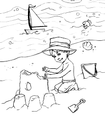 Beach Coloring Pages Page Free Printable For Kids Online