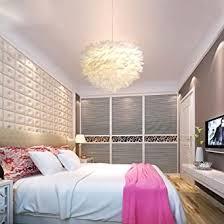 modernes feder pendelleuchte fluffy kugel rund trommel elegante gemütliche romantische hängeleuchte hängele kreative anhänger hängendes licht für