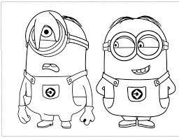 Cartoon Coloring Pages Of Minions From Despicable Me 2