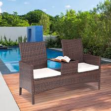 Giantex Patio Rattan Chat Set Seat Sofa Loveseat Table Chairs ... Shop Aleko Wicker Patio Rattan Outdoor Garden Fniture Set Of 3 Pcs 4pc Sofa Conservatory Sunnydaze Tramore 4piece Gray Best Rattan Garden Fniture And Where To Buy It The Telegraph Akando Outdoor Table Chair Hog Giantex Chat Seat Loveseat Table Chairs Costway 4 Pc Lawn Weston Modern Beige Upholstered Grey Lounge Chair Riverdale 2 Bistro With High Webetop Setoutdoor Milano 4pc Setting Coffee