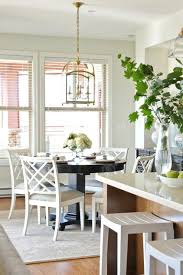 Lighting Above Kitchen Table Astounding Light Fixtures With Simple Curtain And Window Treatment