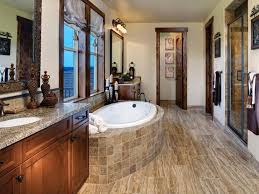 Rustic Bathtub Tile Surround by Rustic Bathroom Tile Design Ideas Complete With Ceiling Lights And