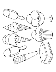 Cone Coloring Page Ice Cream Truck Pages Free Printable Dreams Colouring