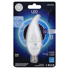 kroger ge light bulb led candelabra soft white 6 5 watts