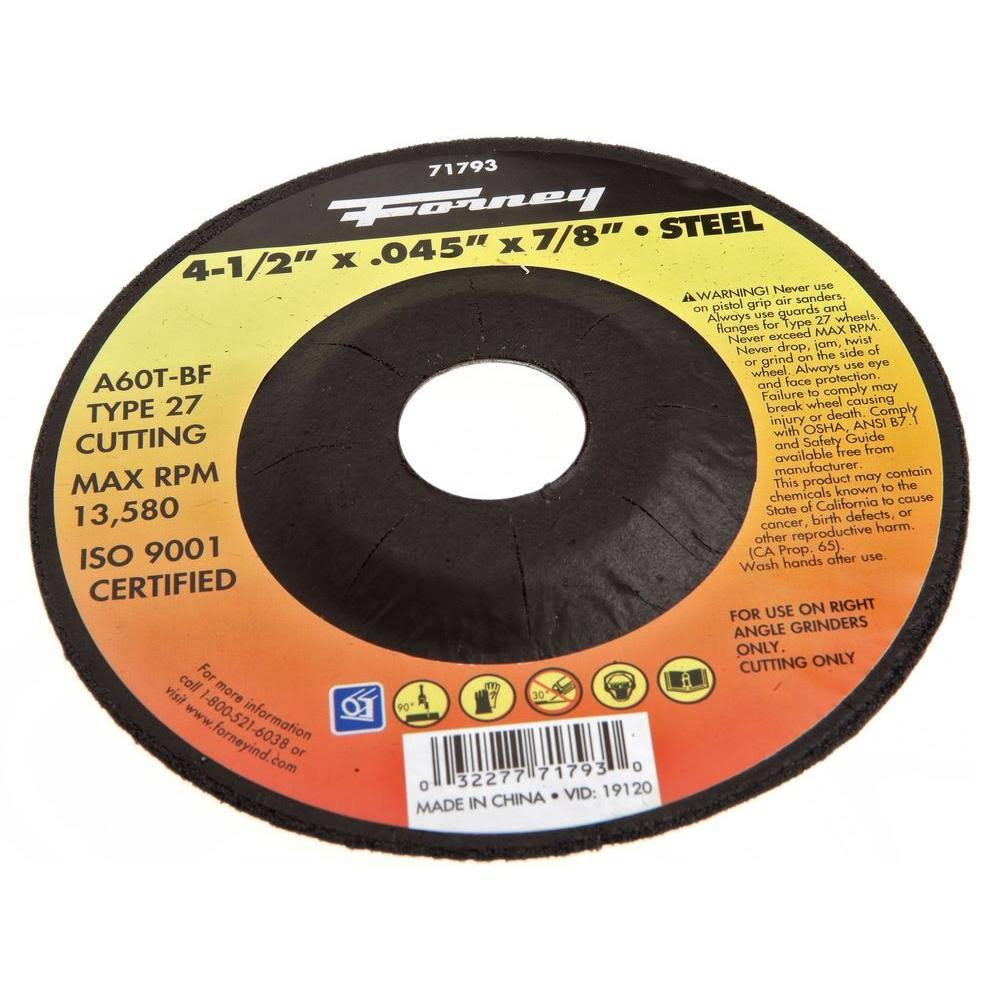 Forney Welding Cutting Wheel - Metal