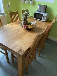 esszimmer royal oak tisch mit 6 stühlen eur 314 00