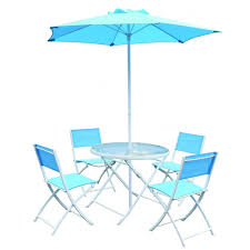 Blue 6 Piece Miami Table & Chairs   Outdoor Patio Furniture Set   TJ ... Greek Style Blue Table And Chairs Kos Dodecanese Islands Shabby Chic Kitchen Table Chairs Blue Ding Http Outdoor Restaurant With And Yellow Crete Stock Photos 24x48 Activity Set Yuycx00132recttblueegg Shop The Pagosa Springs Patio Collection On Lowescom Tables Amusing Ding Set 7 Piece 4 Kids Playset Intraspace Little Tikes Bright N Bold Free Shipping Balcony High Cushions Fniture Rst Brands Sol 3piece Bistro Setopbs3solbl The