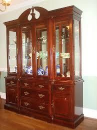 Ethan Allen Georgian Court Secretary Desk by Bassett Eden House Solid Cherry China Cabinet Breakfront Like
