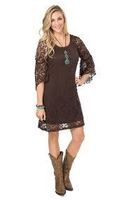 jody women u0027s brown lace 3 4 bell sleeve dress bell sleeve dress