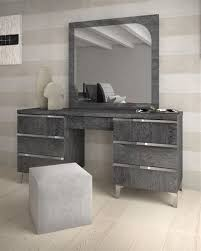 Grey Modern Vanity Table The Holland How To Decorate A Bedroom