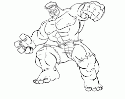 Hulk Coloring Pages Printable Incredible Page For