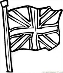 Flags Coloring Pages Britain Flag