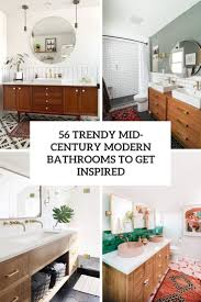 56 trendy mid century modern bathrooms to get inspired