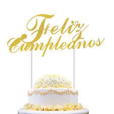 Feliz Cumpleanos Cupcake Kuchen Topper Happy Birthday In Spanisch Fahnen Geburtstag Festival Home Party