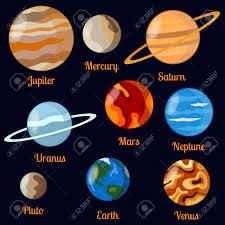 Solar System Planets Earth Saturn Jupiter Mars Venus
