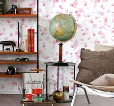 blumentapete rosa blütenblätter