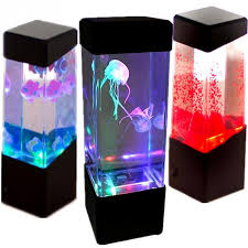 creative led light glowing aquarium mini fish tank relax home