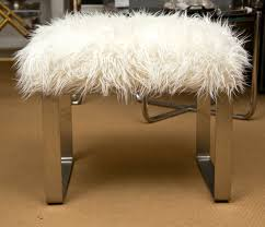 Contemporary Vanity Chairs For Bathroom by Mongolian Lamb Vanity Stools For Sale At 1stdibs