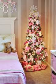 Love This Little Girl Themed Christmas Tree Esp The Pink Mitten Feather Trim Ornament Snowflakes Lollipops White Pinecones Miss Kitty