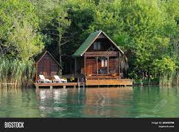 104 River Side House Wooden Along Image Photo Free Trial Bigstock