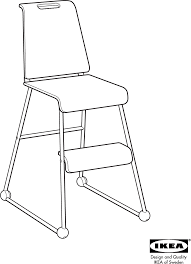 Eddie Bauer High Chair Tray Removal by Ikea High Chair Aa 93921 4 User Guide Manualsonline Com