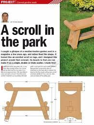 carved garden seat plans u2022 woodarchivist