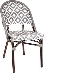 Amazon.com: Design Lab MN LS-3002-GRYWHT Aluminum Bamboo ... Amazoncom Nuevo Soho Alinum Ding Chair Chairs Mayakoba Outdoor In White Textilene Set Of 2 By Zuo Darlee Nassau Cast Patio Chairultimate Room Modway Eei3053whinav Stance Contemporary Ding Chair With Armrests Stackable Navy Metal Emeco Restaurant Coffee Blue Indoor Galvanized Galvanised 11 Piece America Luxury 11577 Modern Urban Design Myrtle Beach Shiny Copper Finished Hot Item Textile Glass Garden Sling Table Hotel Project Fniture