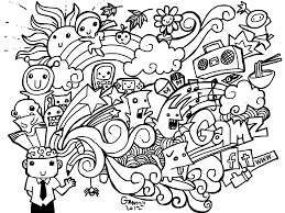 Trend Doodle Art Coloring Pages 92 On Download With