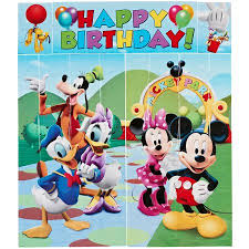 Mickey Mouse Wall Party Decorations 5pc Walmart