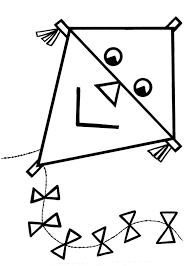 Coloring Pages Kite Flying Tags Felt Buck