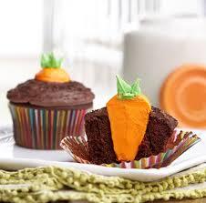 Bunnys Carrot Garden Easter Cupcakes