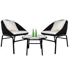Miami Patio Set With White Cushions - Arena Living