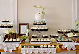 Vintage Wedding With Cake And Cupcakes