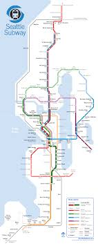 Map The Week Seattle Subway Vision Map  The Urbanist
