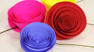 Rolled Paper Rose Flower Easy Craft Setp By Step Tutorial