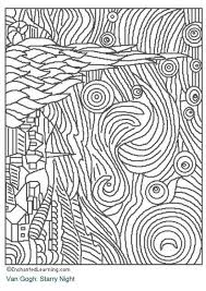 Starry Night Art Appreciation Coloring Pages