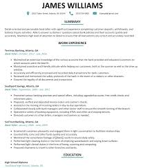 Good Resume Examples Bank Teller