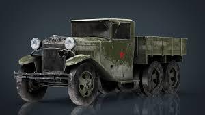 100 Aaa Truck 3D GAZ AAA TRUCK WINTER CGTrader