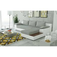 canape d angle bois canapé d angle convertible nemo avec plateau en bois et meuble intégré