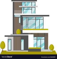 100 A Modern House Big Modern House Cartoon Royalty Free Vector Image