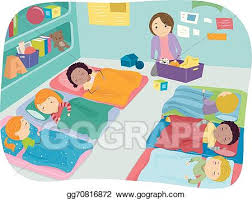 Vector Clipart Nap Time Preschool Illustration Gg70816872 Rh Gograph Com Outside Clip Art Lunch