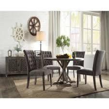 Internet 305702555 Acme Furniture Carmelina Weathered Gray Oak Dining Table