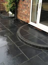 Midnight Black Limestone Paving Slabs