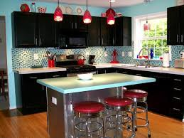 Kitchen Black Rectangle Modern Wooden Decor Themes Ideas Stained Design For