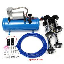 4 Trumpet Vehicle Air Horn 12V/24V Compressor Tubing 150 DB Train ... Trust The Air Suspension Ride Pros Find Exclusive Deals On Hot Rod Kleinn Harleydavidson Horn Systems Hogkit1 Free Shipping Pro Blaster Triple Train Kit Buff Truck Outfitters Cavalry Charge Musical Tune 12 Volt Stebel Italian Cheap Find Deals Line At Alibacom 100w 12v Car Alarm Police Fire Loud Speaker Pa Siren Mic Heavy Duty And Compressor Aw Direct Denali Soundbomb Split Dualtone Motorcycle Kits Texas Horns By Model Hk1 Dual 6 Liter Tank 4trumpet 8milelake 150db Super Trumpet