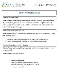 Resume Career Summary New Example Objective For Mechanical Engineer Accountant