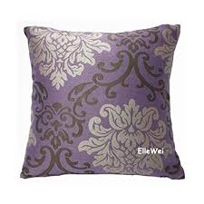 Amazon ElleWeiDeco Modern Damask Purple Throw Pillow Cover
