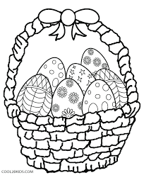 Cracked Easter Egg Coloring Page Basket Pages Printable For Kids