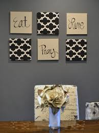 Eat Pray Love Wall Art Pack Of 6 Canvas Hangings Hand