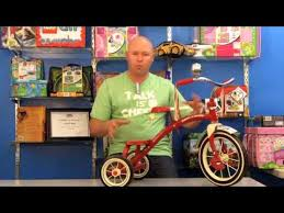 radio flyer dual deck tricycle youtube
